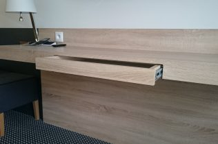 Drawer in table top